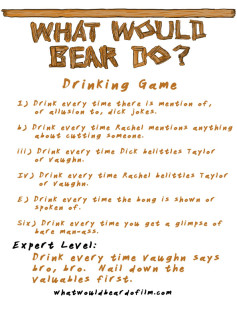 What Would Bear Do? Official Drinking Game